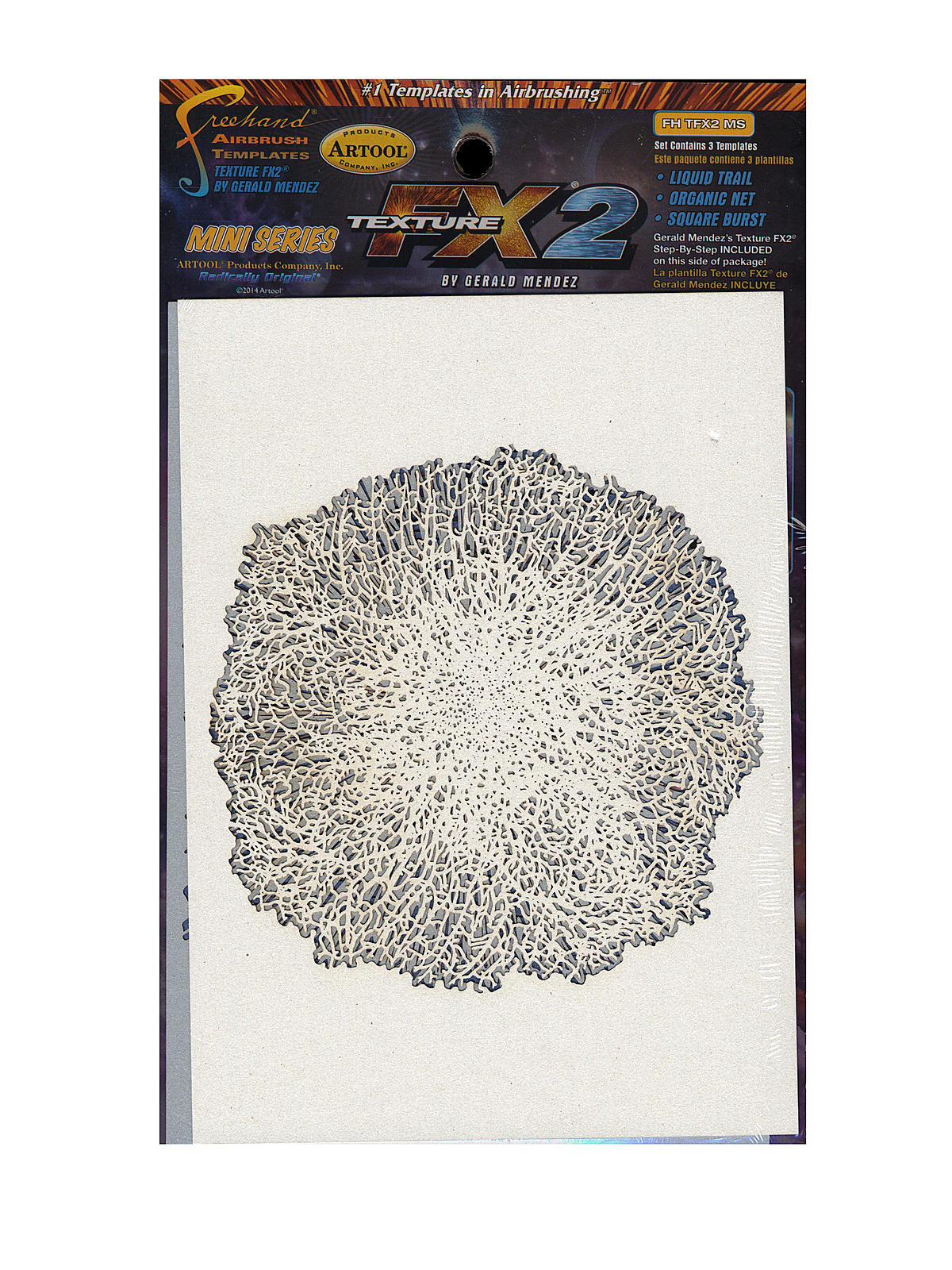 Texture Mini Series Airbrush Templates FX2 set of 3