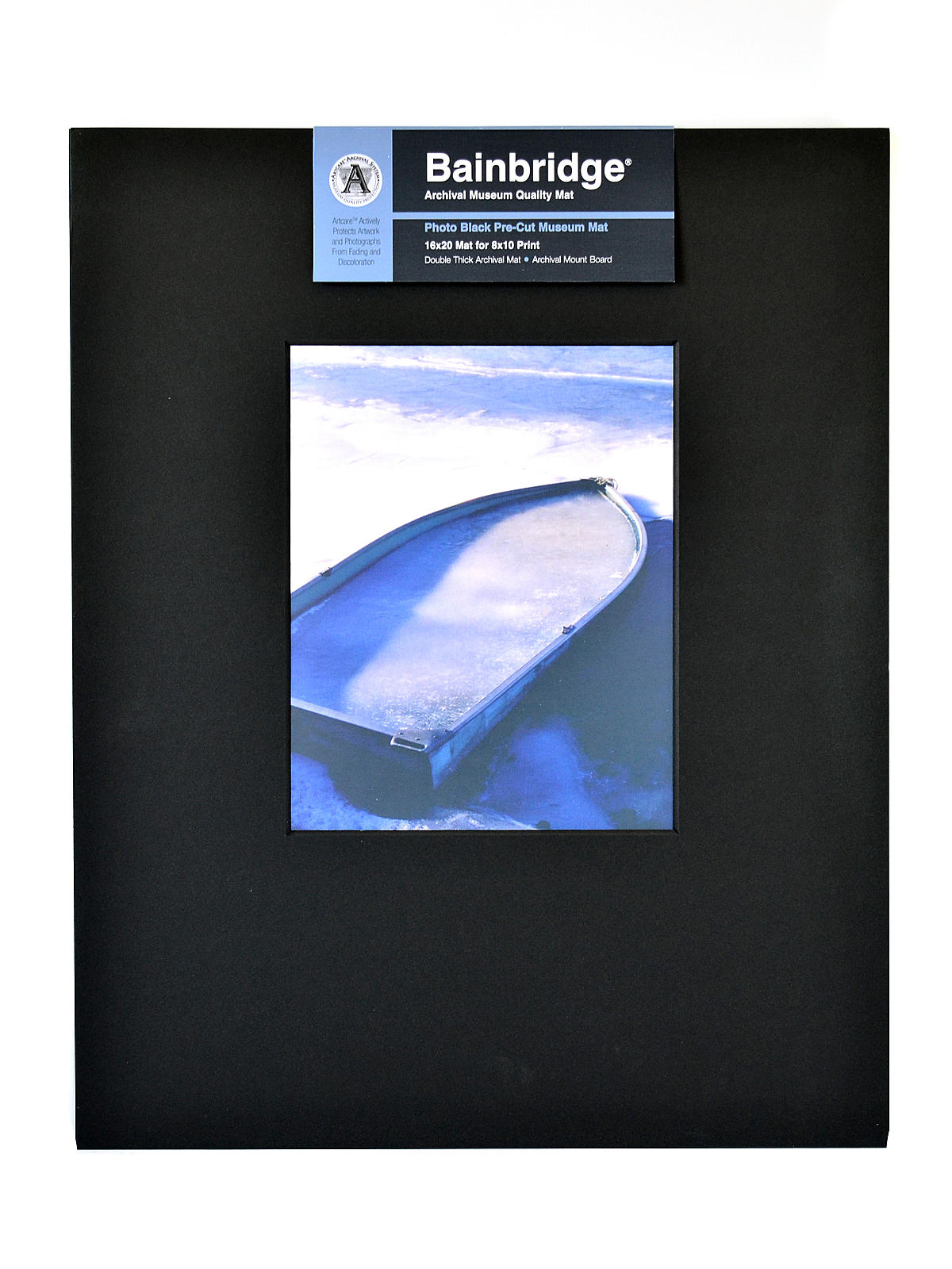 Archival Museum Quality Mat 16 in. x 20 in. portrait for 8 in. x 10 in. black