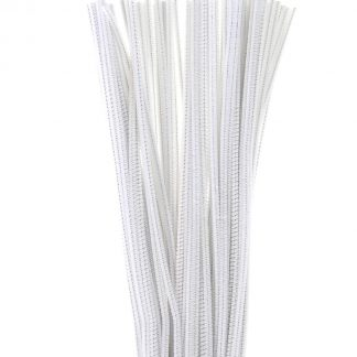 Chenille Stems 4 mm x 12 in. 100 pieces white