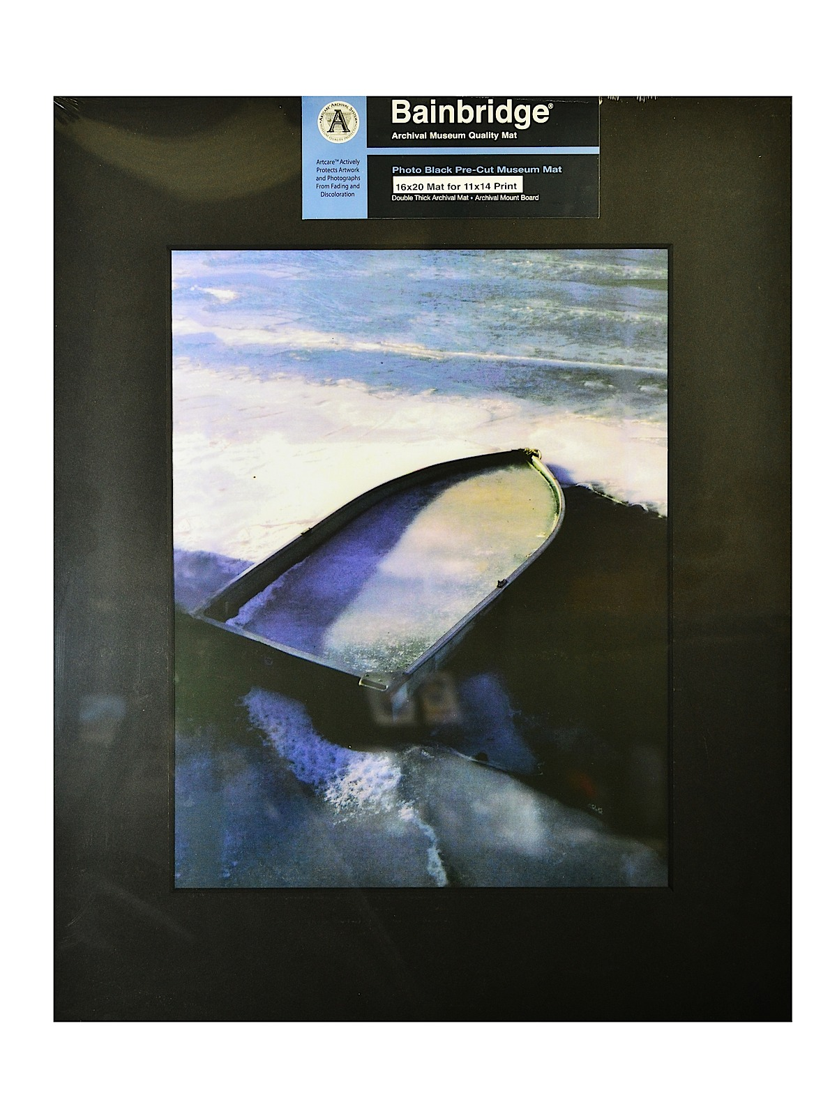 Archival Museum Quality Mat 16 in. x 20 in. centered for 11 in. x 14 in. black