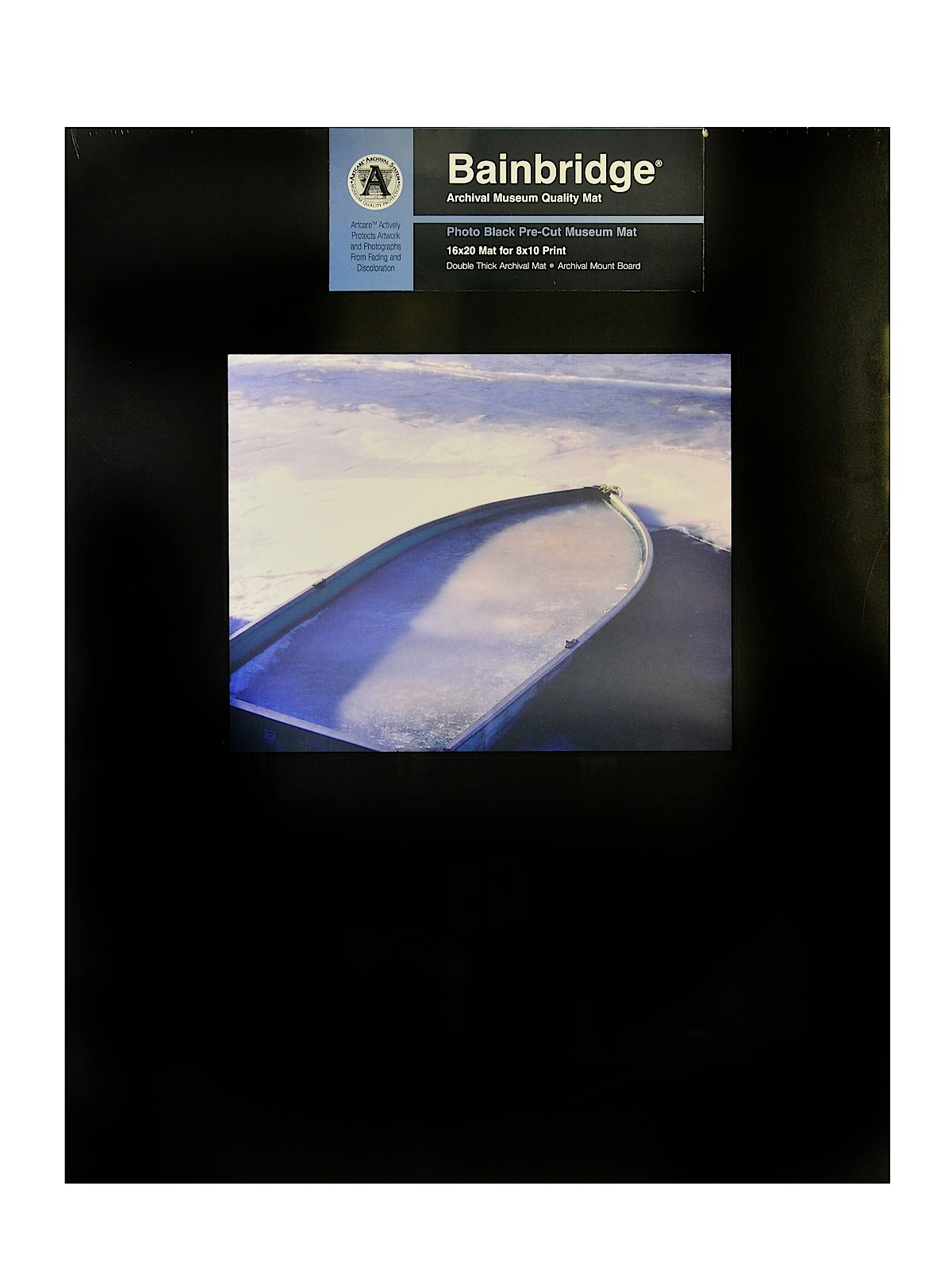 Archival Museum Quality Mat 16 in. x 20 in. landscape for 8 in. x 10 in. black