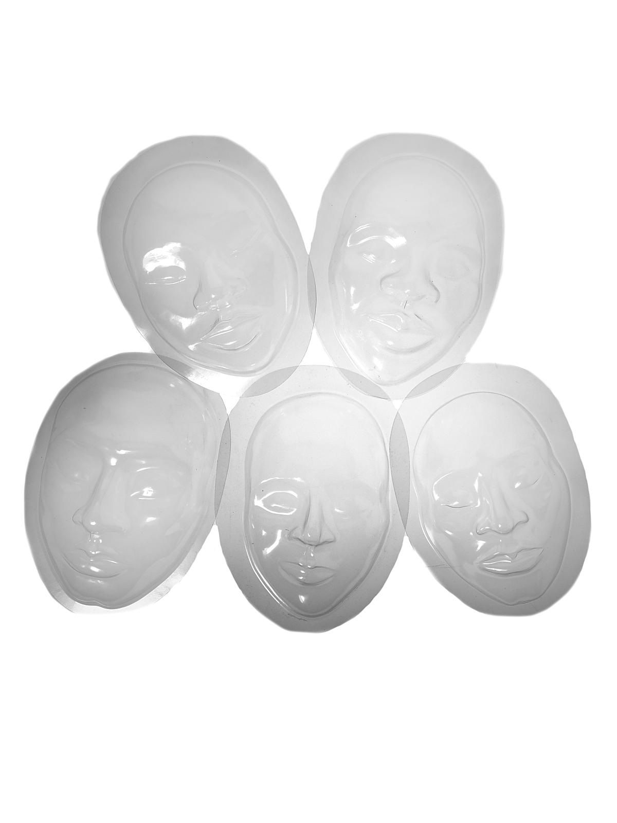 Face Forms 5 designs pack of 10